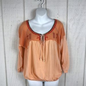 Free People coral pink top, size Small